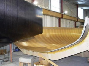 The new boat comes out of its mould at Cookson Boats