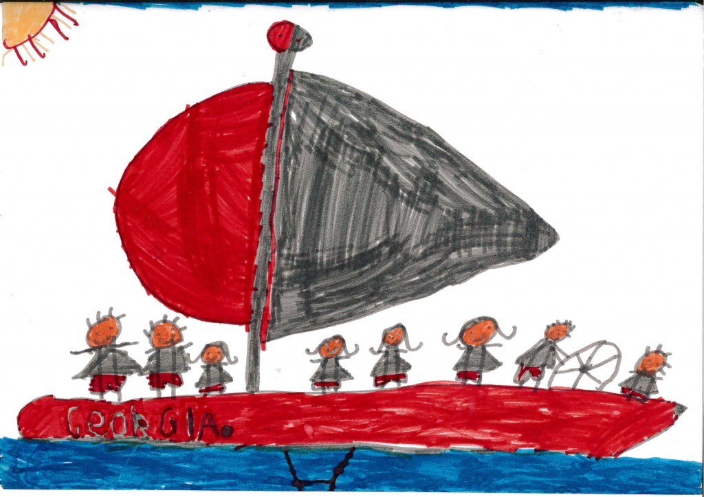 A picture drawn by Keryn's daughter, Lexi (aged 5) of Georgia.